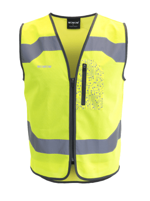 WOWOW - HI VISIBILITY & REFLECTIVE ZIPPER VEST JACKET / MENS / YELLOW: