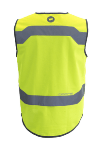 "WOWOW - HI VISIBILITY & REFLECTIVE ZIPPER VEST JACKET / MENS / YELLOW: ""DRONE"""""