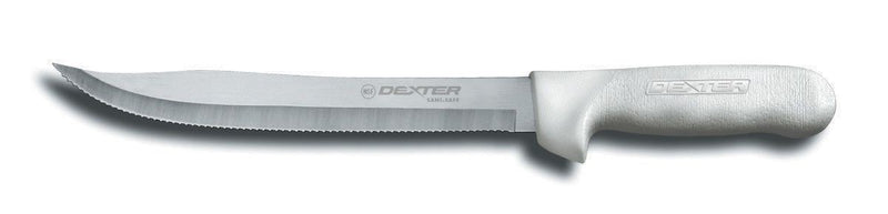 "Dexter Russell Sani-Safe 9"" Scalloped Utility Slicer S142-9"