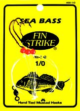 Fin Strike 468-1/0 Sea Bass Hi-Lo 3 Hook Rigs