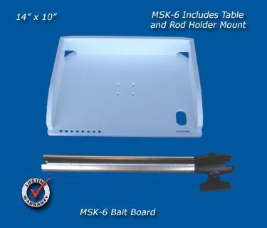 Deep Blue MSK-6 MultiSystem Rod Holder Bait Table