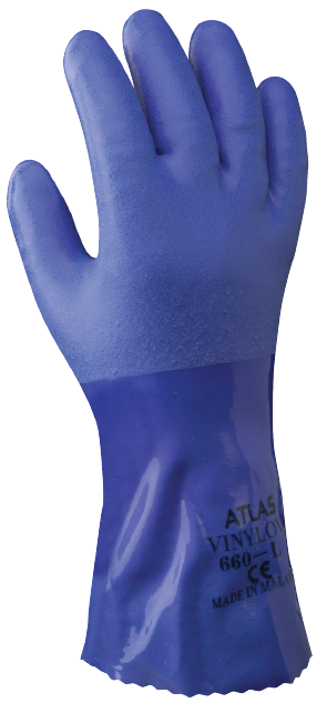 Showa Atlas 660L PVC Blue Gloves - Large