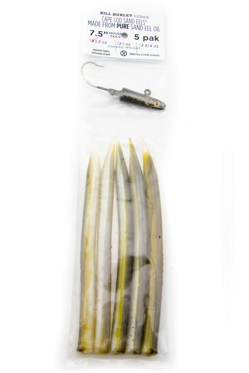 "Bill Hurley Cape Cod Sand Eel 7.5"" Mouse Tails"