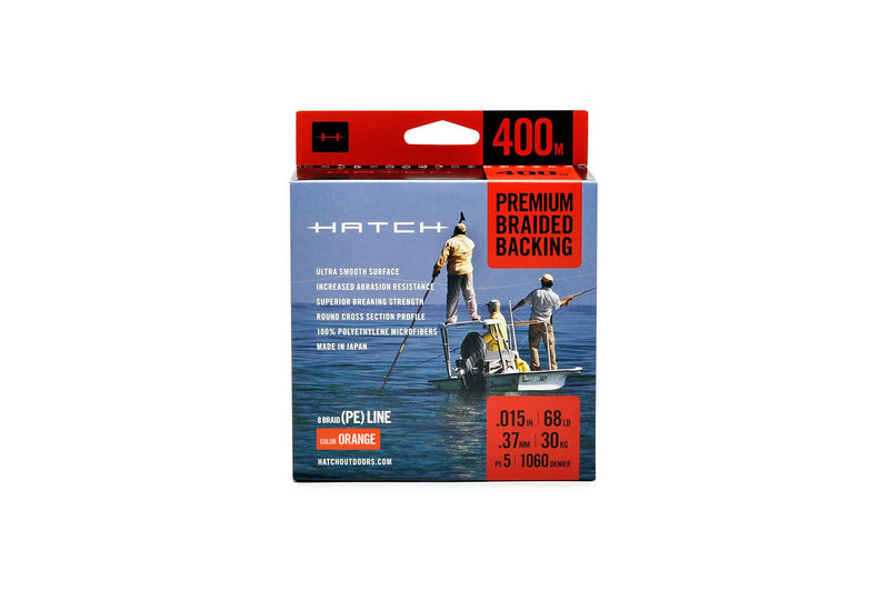 Hatch Premium Braided Backing - 68 lb. 400M - Orange