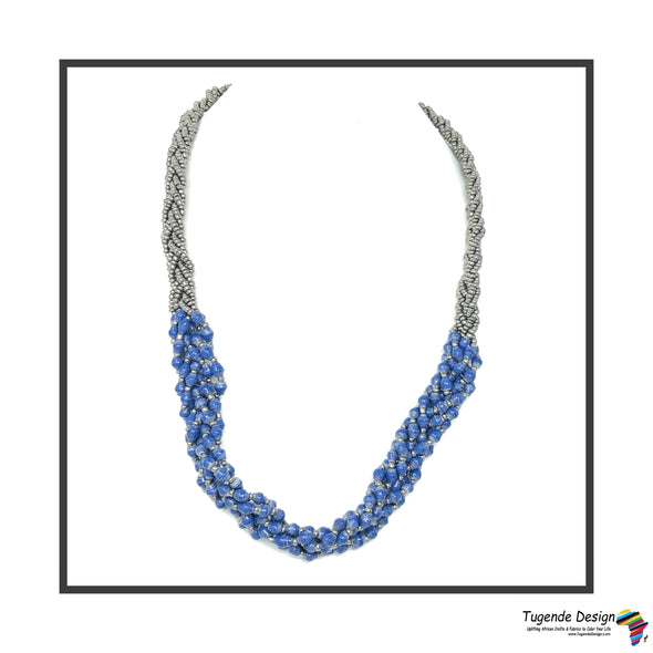 Abambejja Signature Necklace (Blue) - Tugende Design
