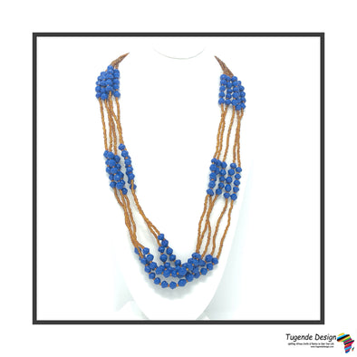 Mwattu Handmade Beaded Multistrand Necklace (Available in 3 Colors)