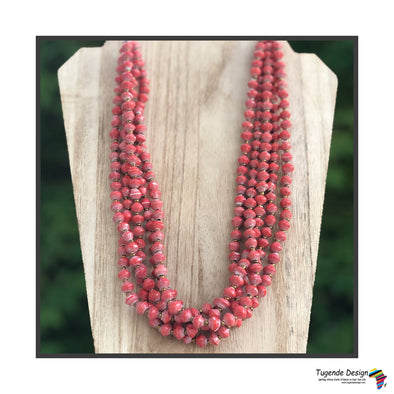 Maggie Handmade Colorful Beaded Multi Strand Monochromatic Necklace (Available in 6 Colors)
