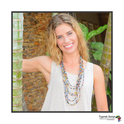 Lucy Handmade Beaded Layered Multistrand Signature Necklace (Available in 7 Colors)