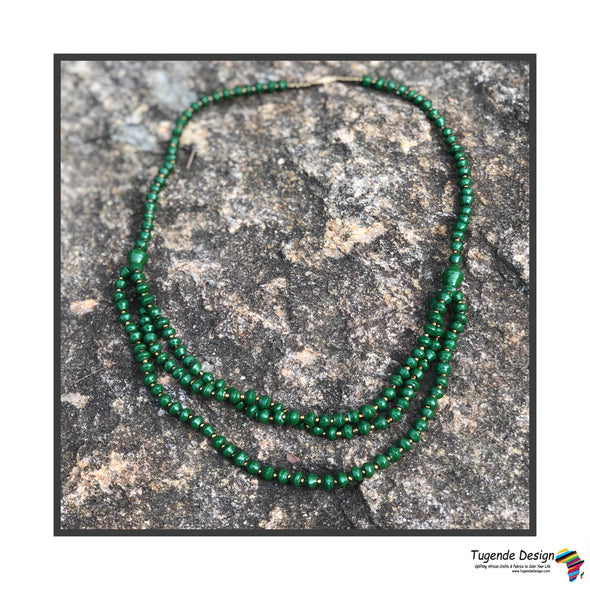Kiragala Beaded Darling Necklace in Green or Turquoise
