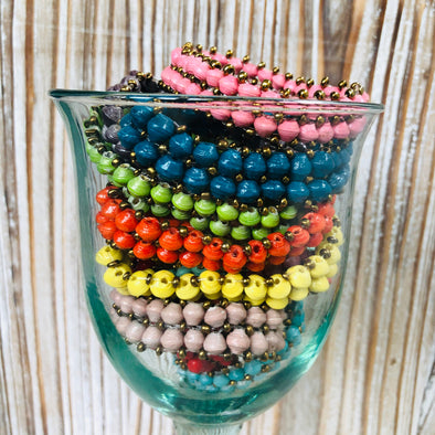 Kiisuufu Stackable Beaded Stretch Bracelets (Many colors)