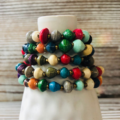 Kyendi Stackable Beaded Stretch Bracelets (Mixed Color)