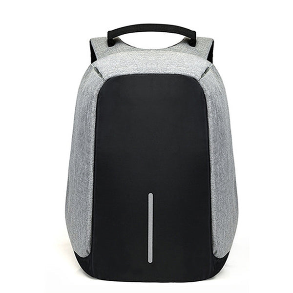 Canvas Men's Anti Theft Backpack Bag  With USB Charger