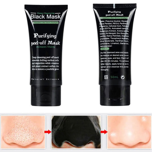 Black Mask Blackhead Remover - Purifying Quality Charcoal Peel off Mask Deep Cleaning Facial Mud Mask