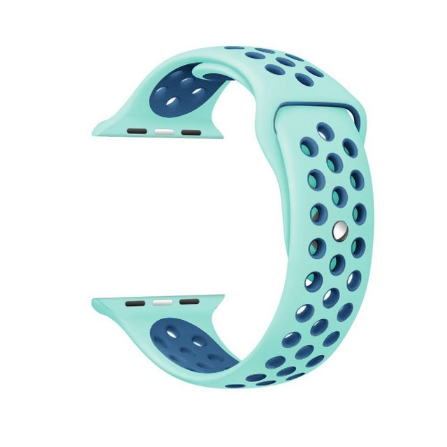 Silicone band strap for apple watch nike 42mm 38mm