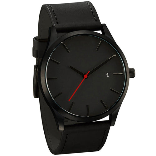 Luxury Leather Business Quartz-Watch