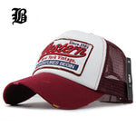 Summer Baseball Embroidery Mesh Cap