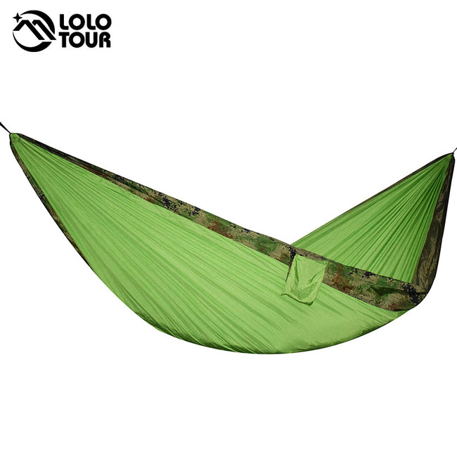 Camping Hammock Double Parachute Portable Travel Large Tree Camp Hammock with Hammock Straps for Backpacking Best Quality Lightweight Two Person Hammock Camping Men Women