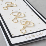 Electroplated Gold/Pink Paper Clips