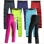 Women Thick Warm Fleece Softshell Windproof Waterproof Pants