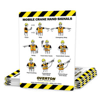 Mobile Crane Safety Hand Signal Cards (25 pk)