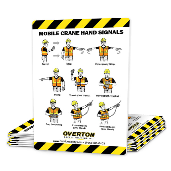 Mobile Crane Safety Hand Signal Cards (50 pk)