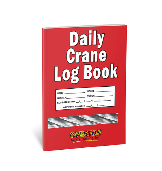 Daily Crane Safety Log Book (10 pk)