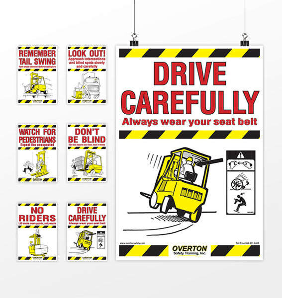 Set of Forklift Safety Posters – Overton Safety Training ...