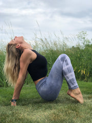 Recycled eco-friendly leggings, no harsh dyes or chemicals.