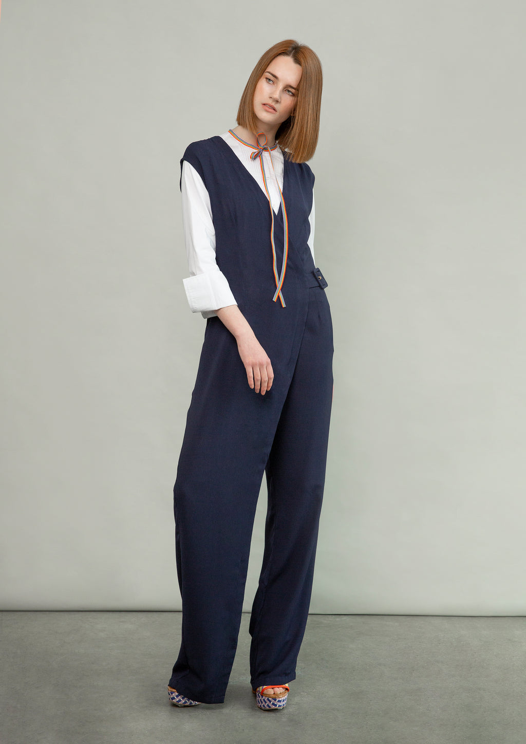 Tailored Wrap Jumpsuit