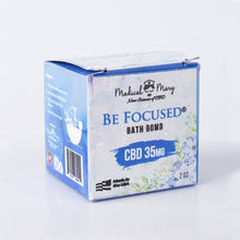 CBD Be Focused Bath Bomb 2OZ 35mg