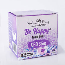 CBD Be Happy Bath Bomb 6oz 35mg