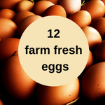 12 farm fresh eggs