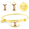 Circle Bangle Bracelet With Your Pet's Picture