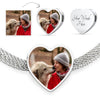 Heart Charm Luxury Steel Bracelet With Your Pet's Picture
