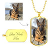Customized Military Style Dog Tag Necklace With Your Pet's Picture