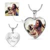 Heart Necklace With Your Pet's Picture