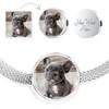 Circle Charm Luxury Steel Bracelet With Your Pet's Picture