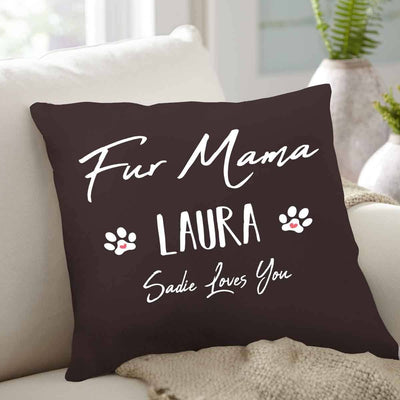 Fur Mama Customized Throw Pillow
