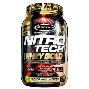 Nitro-Tech 100% Whey Gold, 2.5 Libras