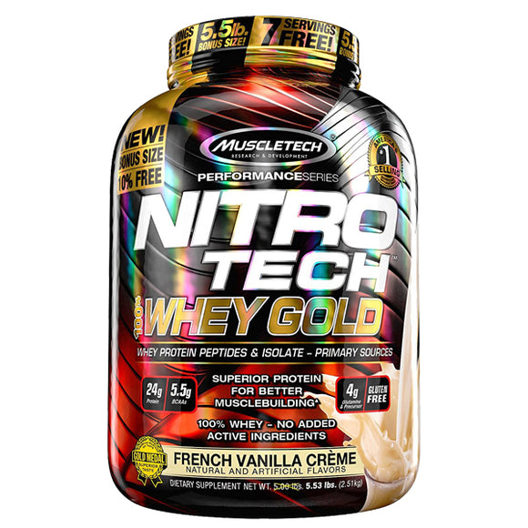 Nitro-Tech 100% Whey Gold, 5.5 Libras