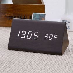 Stylish Digital Wooden Clock