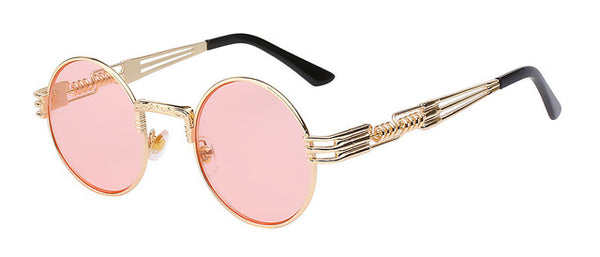 Pink/Gold Steampunk Glasses
