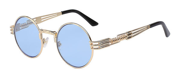 Blue/Gold Steampunk Glasses