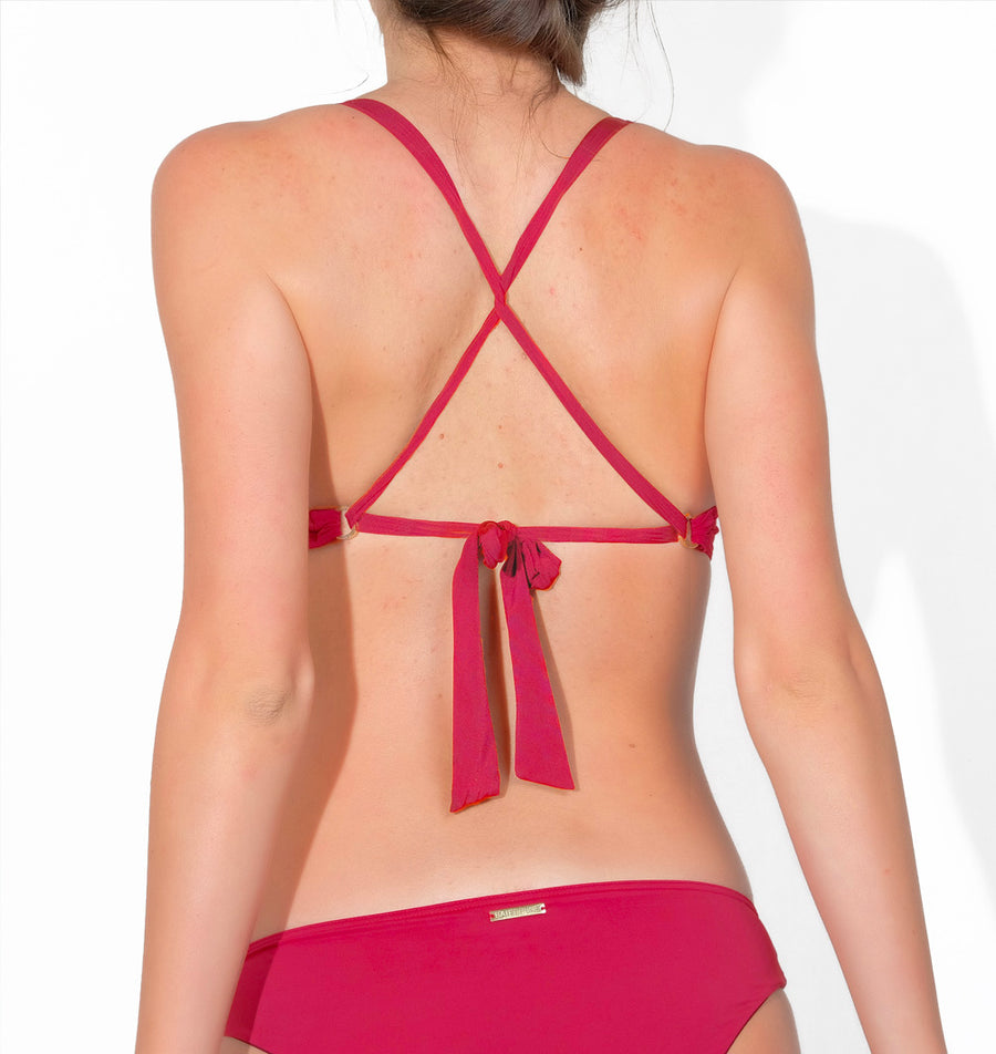 Brassière rouge maillot de bain made in France femme
