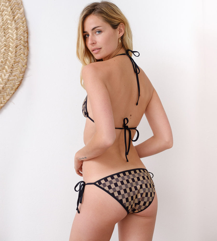 luxury swimwear made in France carreaux