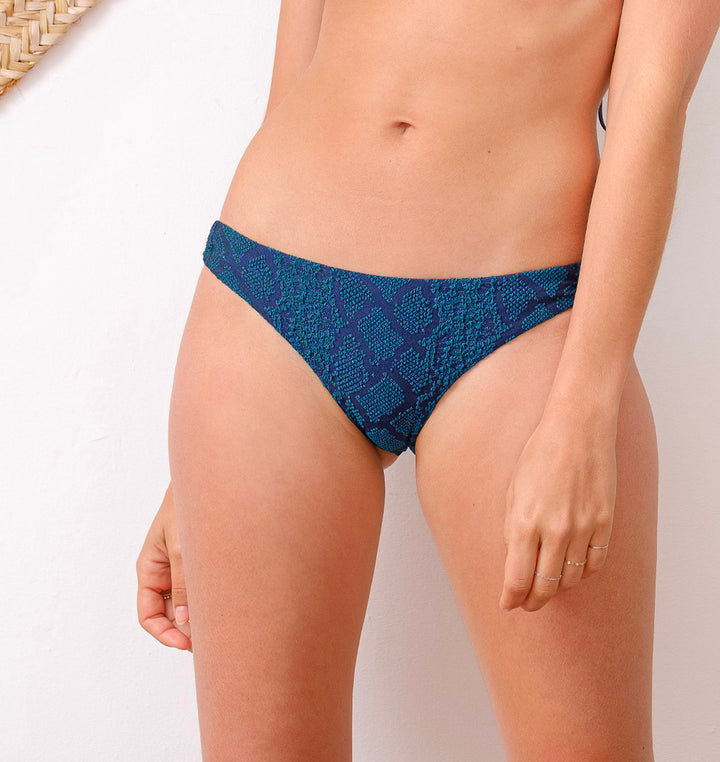 bas maillot de bain femme motif animal bleu made in France