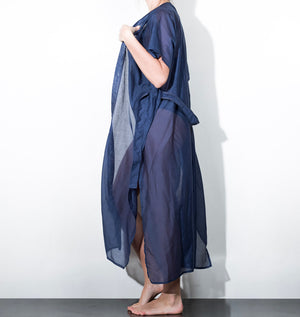 kimono-long-bleu-coton-soie-made-in-france
