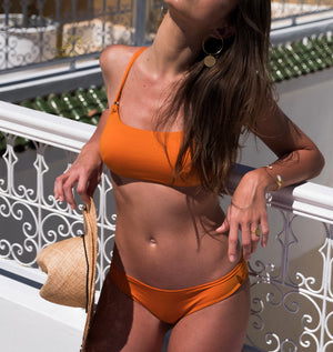 maillot de bain made in france orange femme