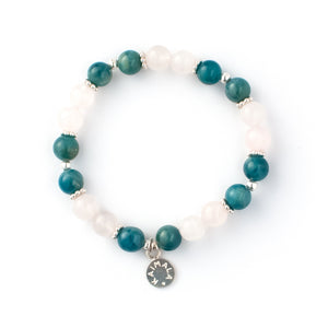 Apatite and Rose Quartz gemstone bracelet | KAIMALA jewels