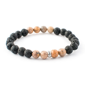 Rhyolite and Lava gemstone bracelet | KAIMALA jewels